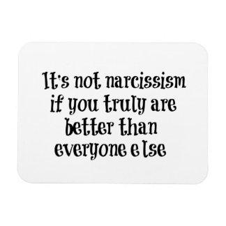 Cita divertida del narcisismo imanes rectangulares