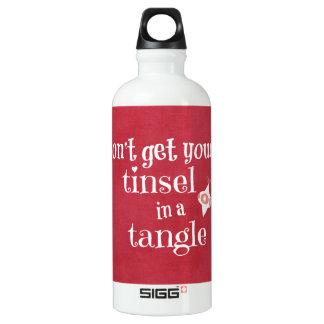 Cita divertida del navidad botella de agua