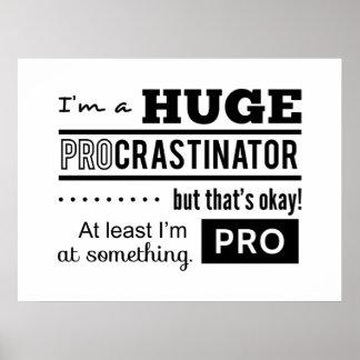 Cita divertida del Procrastinator Poster