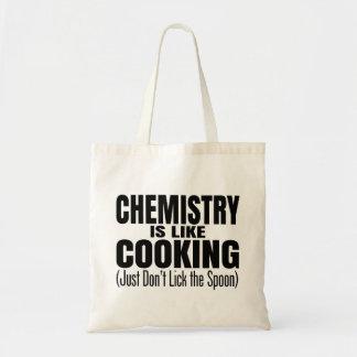 Cita divertida del profesor de la química bolsa lienzo