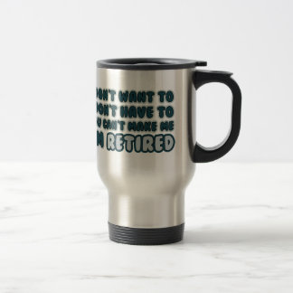 Cita divertida del retiro taza de viaje de acero inoxidable