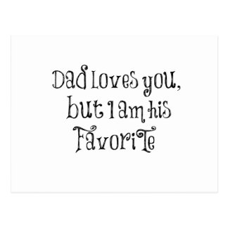 Cita divertida: El papá le ama pero Tarjeta Postal