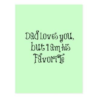 Cita divertida: El papá le ama pero Tarjetas Postales
