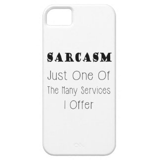 Cita divertida sobre el sarcasmo, citas chistosas funda para iPhone 5 barely there