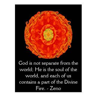 CITA divina del fuego de Zeno de Elea Postal