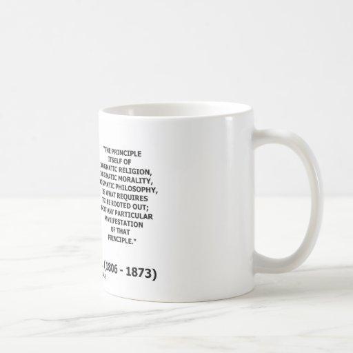 Cita dogmática de la moralidad de la religión de J Taza De Café