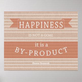 Cita Eleanor Roosevelt de la felicidad de Póster