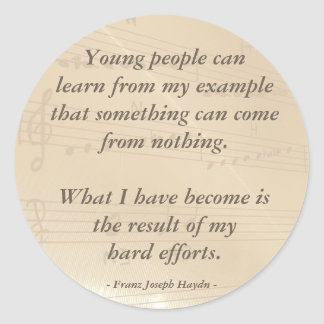 Cita elegante de Haydn del profesor de música Etiqueta Redonda
