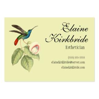 Cita elegante del salón del colibrí del vintage plantilla de tarjeta personal