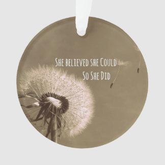 Cita: Ella creyó que ella podría así que ella hizo