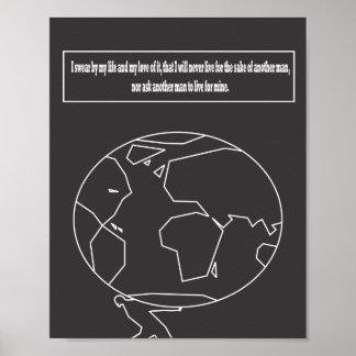 Cita encogida atlas póster