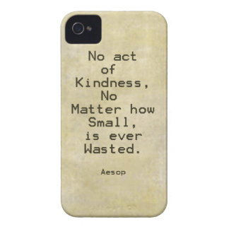 Cita Esopo de la compasión de la amabilidad iPhone 4 Case-Mate Cárcasa