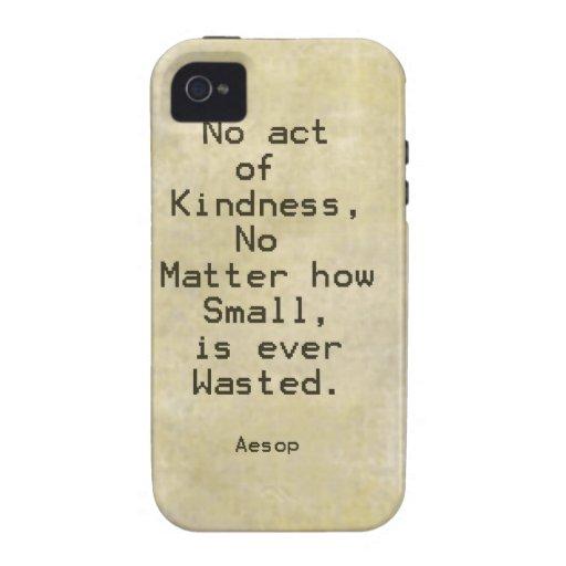 Cita Esopo de la compasión de la amabilidad iPhone 4 Carcasa
