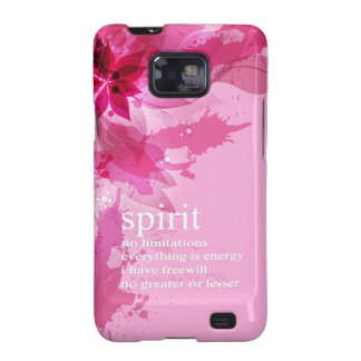 Cita espiritual inspirada abstracta rosada galaxy s2 funda