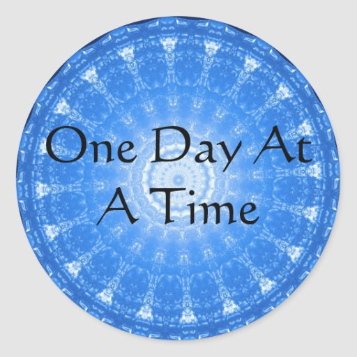 cita espiritual inspirada - un día a la vez etiquetas redondas