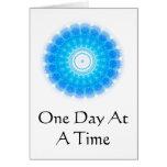 cita espiritual inspirada - un día a la vez tarjeton