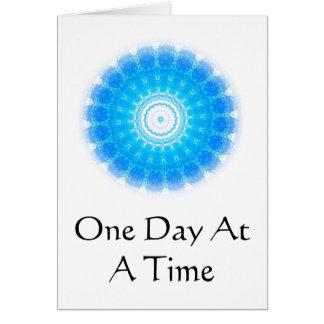 cita espiritual inspirada - un día a la vez tarjeta de felicitación