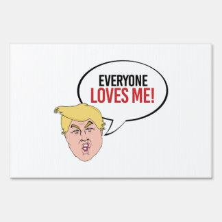 Cita estúpida del triunfo - cada uno me ama cartel