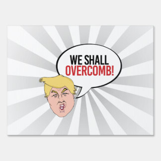 Cita estúpida del triunfo - overcomb letreros