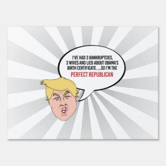 Cita estúpida del triunfo - soy el republicano señal