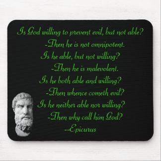 Cita famosa de Epicurus Alfombrillas De Ratón