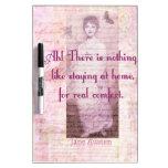 Cita famosa de Jane Austen sobre el hogar dulce ca Pizarras Blancas De Calidad