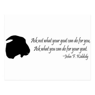 Cita famosa de John F. Kennedy por la cabra Tarjeta Postal
