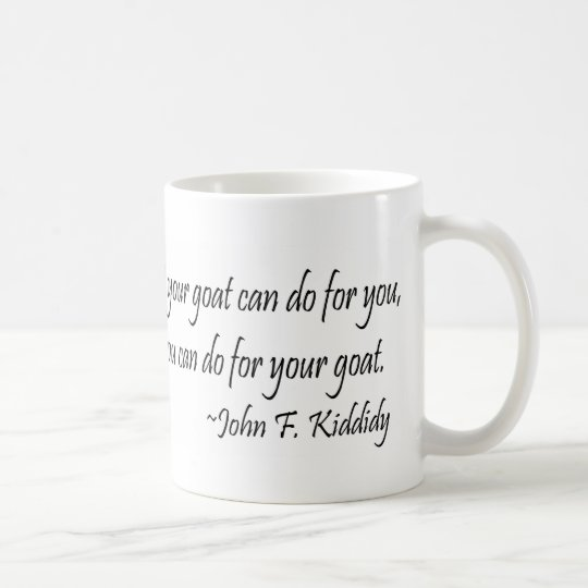 Cita famosa de John F. Kennedy por la cabra Taza De Café