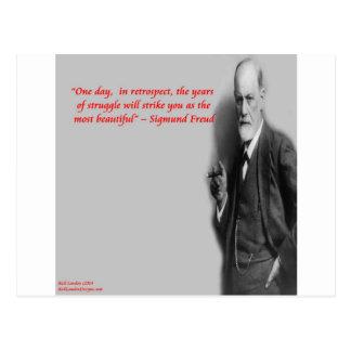 "Cita famosa de la ""lucha"" de Sigmund Freud Tarjetas Postales"
