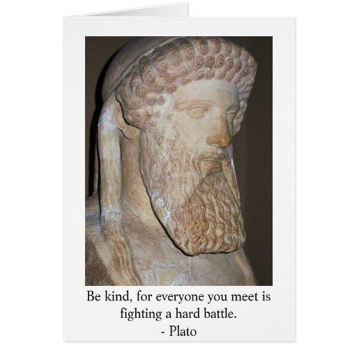 Cita famosa de Platón Felicitación
