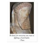 Cita famosa de Platón Tarjetas Postales