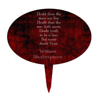 Cita famosa del amor de William Shakespeare Decoraciones Para Tartas
