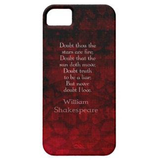 Cita famosa del amor de William Shakespeare Funda Para iPhone SE/5/5s