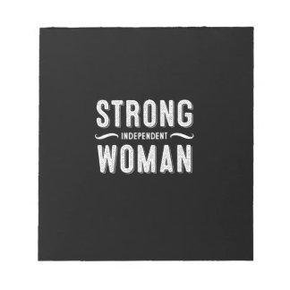 Cita femenina blocs de notas