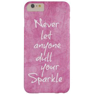 Cita femenina rosada de la chispa funda de iPhone 6 plus barely there