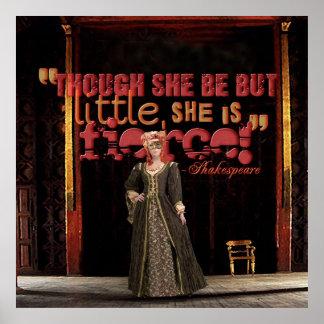 Cita feroz de Shakespeare Posters