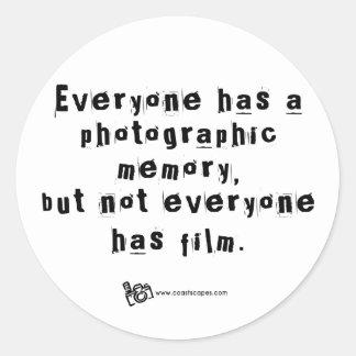 Cita fotográfica v 2 de la memoria etiquetas redondas