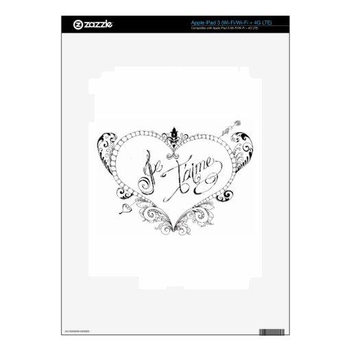 Cita francesa del amor iPad 3 pegatina skin