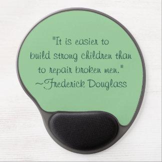 Cita fuerte de los niños de Frederick Douglass Alfombrillas De Raton Con Gel
