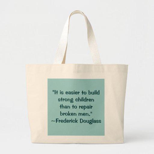 Cita fuerte de los niños de Frederick Douglass Bolsa De Mano