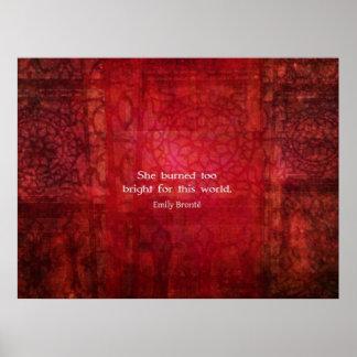 Cita hermosa de Emily Bronte sobre vida Poster