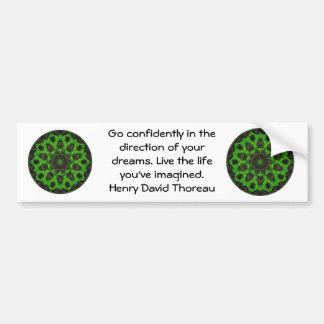Cita ideal de motivación de Henry David Thoreau Pegatina Para Auto