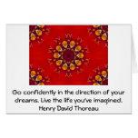 Cita ideal de motivación de Henry David Thoreau Tarjeta De Felicitación