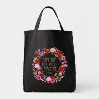Cita imaginada vida viva personalizada de la bolsa tela para la compra