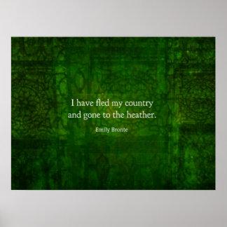 Cita imaginaria de Emily Bronte - Cumbres borrasco Poster