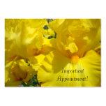 ¡Cita importante! carda floral amarillo de encargo Plantilla De Tarjeta De Negocio