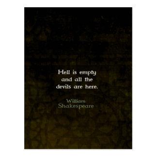 Cita ingeniosa chistosa de William Shakespeare Postal