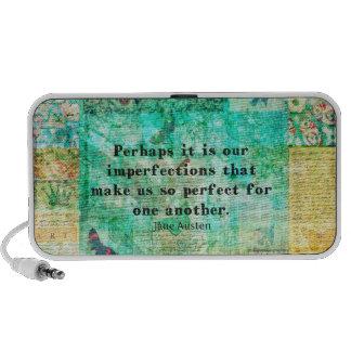 Cita ingeniosa de Jane Austen Laptop Altavoces
