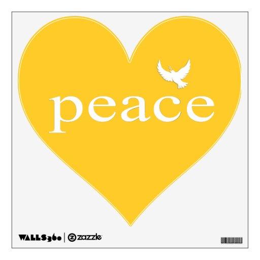 Cita inspirada amarilla de la paz