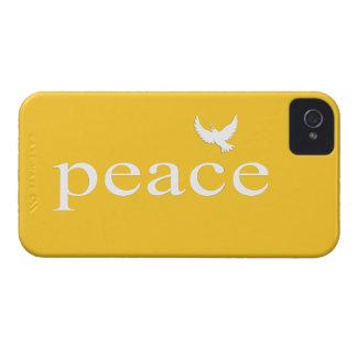 Cita inspirada amarilla de la paz Case-Mate iPhone 4 fundas